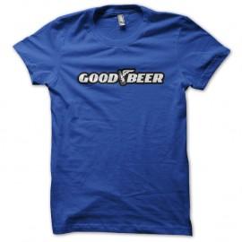 Shirt good beer detournement good year bleu pour homme et femme