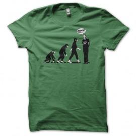 Shirt evolution bazinga sheldon cooper vert pour homme et femme