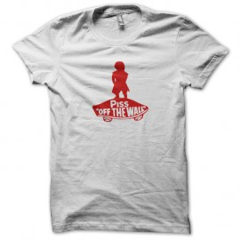 Shirt Piss Off the wall blanc pour homme et femme