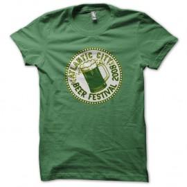 Shirt Atlantic city beer festival 2008 vert pour homme et femme