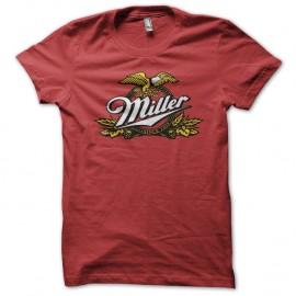 Shirt Miller beer rouge pour homme et femme