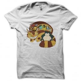 Shirt pokemon la troupe en voyage blanc pour homme et femme