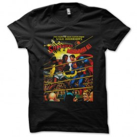 Shirt ali vs superman poster noir pour homme et femme