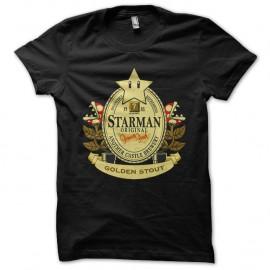 Shirt Mario bros logo biere americaine noir pour homme et femme