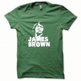 Shirt James Brown blanc/vert bouteille pour homme et femme