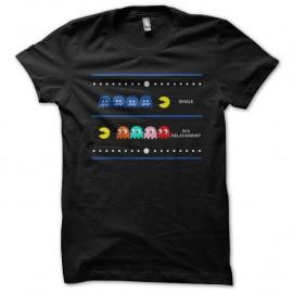 Shirt In a relationship pacman noir pour homme et femme