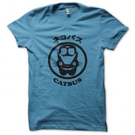 Shirt catbus bleu ciel pour homme et femme