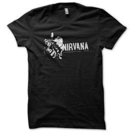 Shirt nirvana noir pour homme et femme
