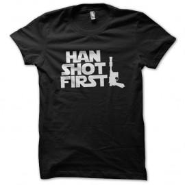 Shirt Han shot first noir pour homme et femme