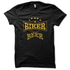 Shirt biker beer noir pour homme et femme