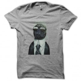 Shirt karl lagerfield version dog gris pour homme et femme