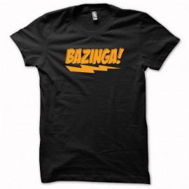 Shirt Sheldon Cooper expression Bazinga orange/noir pour homme et femme