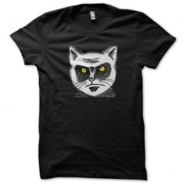 Shirt chat en colere portrait art noir pour homme et femme