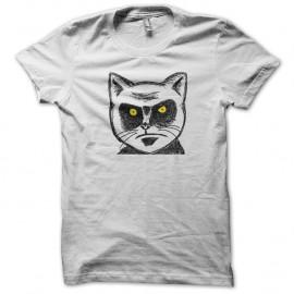 Shirt chat en colere portrait art blanc pour homme et femme