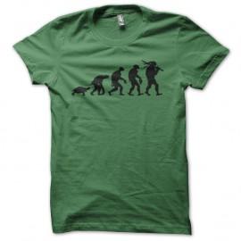 Shirt evolution ninja turles vert pour homme et femme
