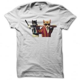 Shirt chat bagarreurs blanc pour homme et femme