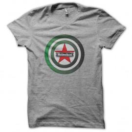 Shirt captain heineken parodie captain america gris pour homme et femme