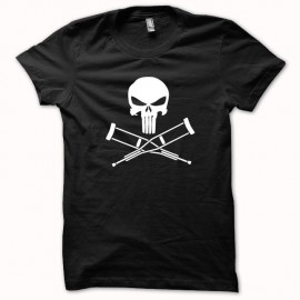 Shirt Jackass vs Punisher version super héro blanc/noir pour homme et femme