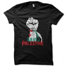 Shirt save palestine noir pour homme et femme