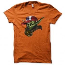 Shirt maitre yoda hip hop swag nouvelle version orange pour homme et femme