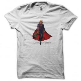 Shirt Meom of steel parodie blanc pour homme et femme