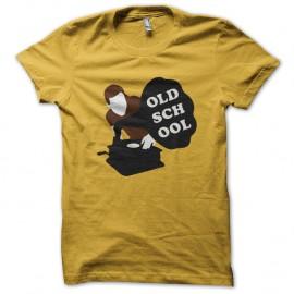 Shirt Old school DJ jaune pour homme et femme