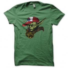 Shirt maitre yoda parodie hip hop nouvelle version vert pour homme et femme