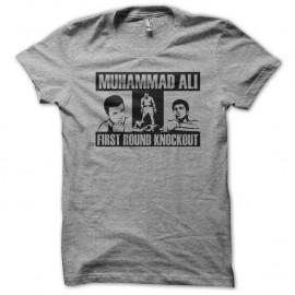 Shirt Muhammad Ali First Round Knockout gris pour homme et femme