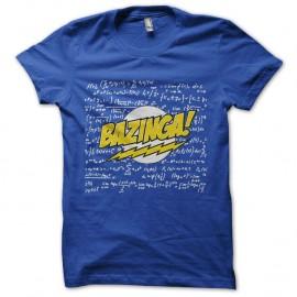 Shirt bazinga calcule physique en arriere plan bleu pour homme et femme