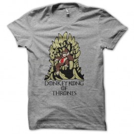Shirt donkey of the throne parodie GOT gris pour homme et femme