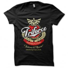 Shirt zelda logo triforce detournement marque de biere noir pour homme et femme