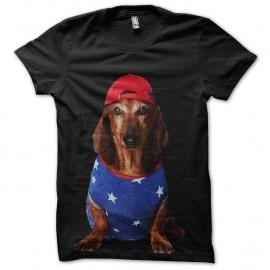 Shirt swagy dog noir pour homme et femme