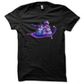 Shirt Aladin and grumpy cat noir pour homme et femme