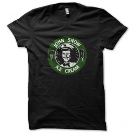 Shirt John Snow Ice Cream noir pour homme et femme