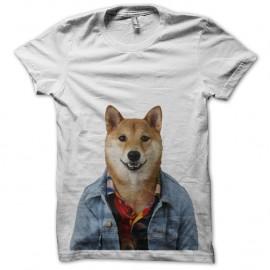 Shirt chien qui a la classe blanc pour homme et femme