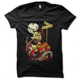 Shirt Nightmare On Sesame Street parodie freddy les griffes de la nuit noir pour homme et femme