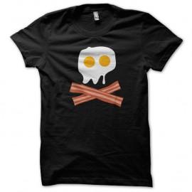 Shirt Pirate Oeuf Bacon skull Noir pour homme et femme