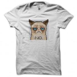 Shirt chat triste blanc pour homme et femme