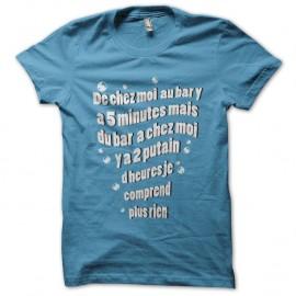 Shirt maison trajet bar bleu ciel pour homme et femme
