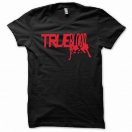 Shirt True Blood rouge/noir slim fit pour homme et femme