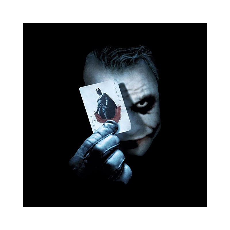 T Shirt Joker Carte Batman Nouvelle Version Noir