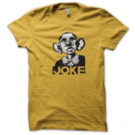 Shirt joke parodie obama jaune pour homme et femme