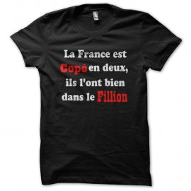 Shirt france parodie politique coppe et fillion noir pour homme et femme