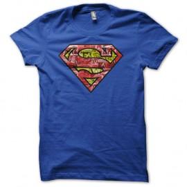 Shirt superman logo comics bd bleu pour homme et femme