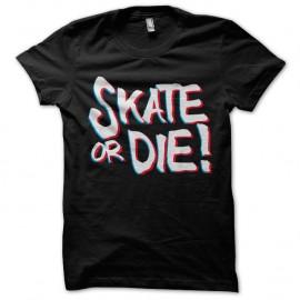 Shirt skate or die effet anaglyphe NOIR pour homme et femme