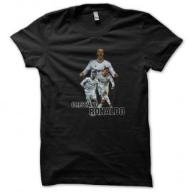 Shirt cristiano ronaldo real madrid noir pour homme et femme