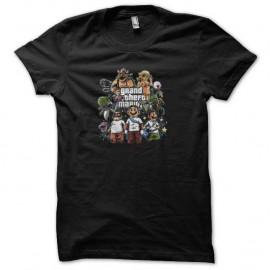 Shirt grand theft mario noir pour homme et femme