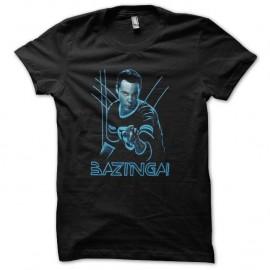 Shirt bazinga effets thorn noir pour homme et femme