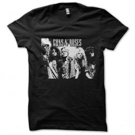 Shirt Guns N roses le groupe en vectoriel noir pour homme et femme