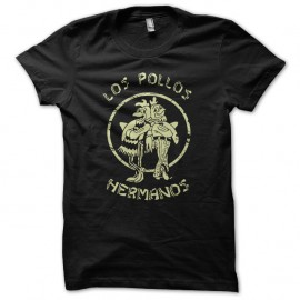 Shirt Los Pollos hermanos Breaking Bad vintage creme sur noir pour homme et femme